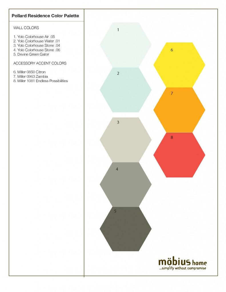Color & Material Plan | Pollard Residence