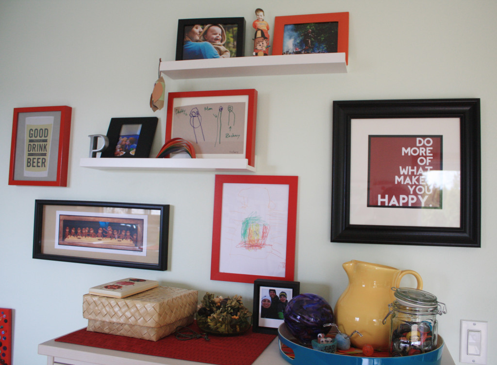 Gallery Wall - Kitchen After