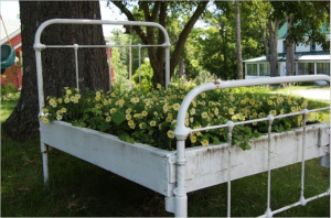 Antique Bed Frame Planter Box