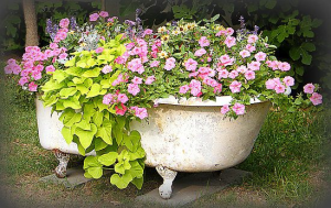 Clawfoot Tub Planter Box