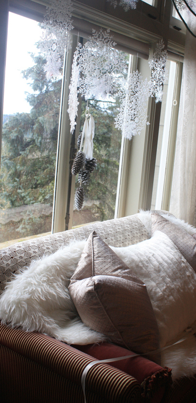Window-view with snoflake decor