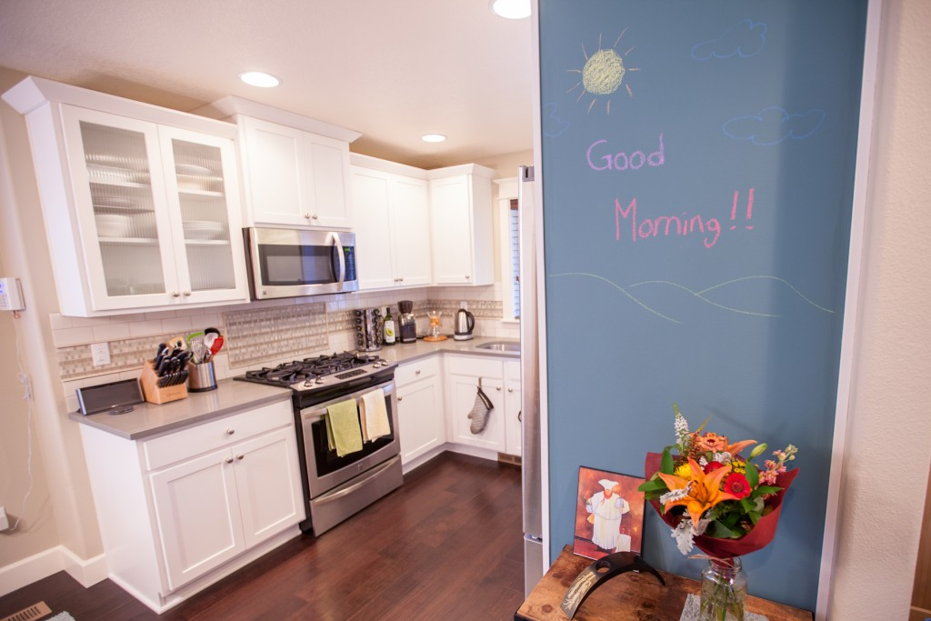 Colorhouse chalkboard paint feature wall