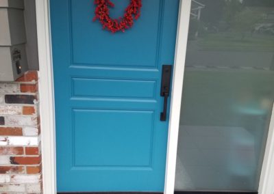 Blue Painted Entry Door