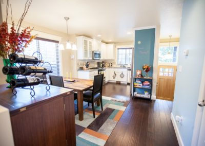 Open Concept Kitchen Dining Area