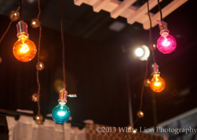 Exposed Colored Bulb Pendants